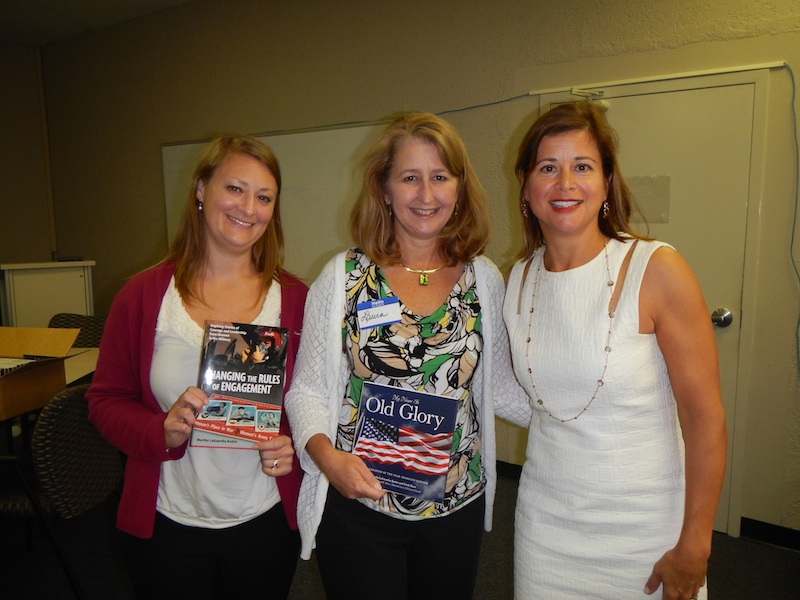 Thanks to Rochelle Kimball, left, and Laura Anderson for inviting me to address their group during one of their professional development sessions.