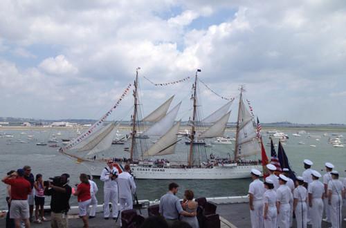 a picture of the CGC EAGLE coast guard ship