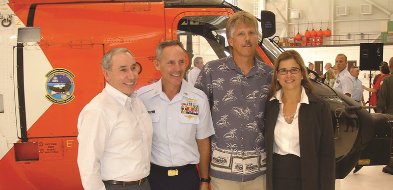 The author (right) joins with (left to right) Commander John Whiddon, Jeff Tunks and Carl Saylor following Jeff Tunks' retirement ceremony in 2007. Kotite collection