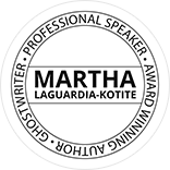 Martha LaGuardia-Kotite Professional Keynote Speaker Emblem Circular Dark Border