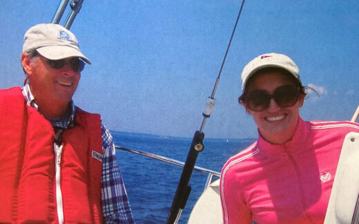 Gary Jobson Sailing with Daughter in Maine